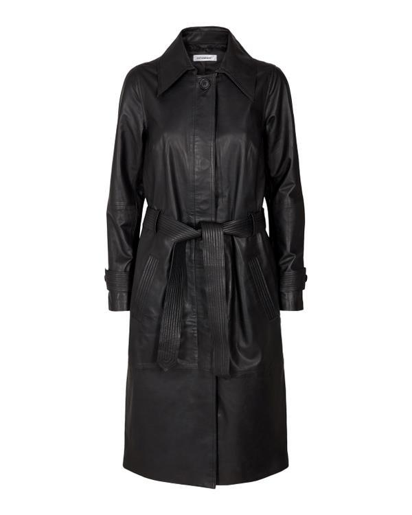 In-Mood Leather Trench Coat